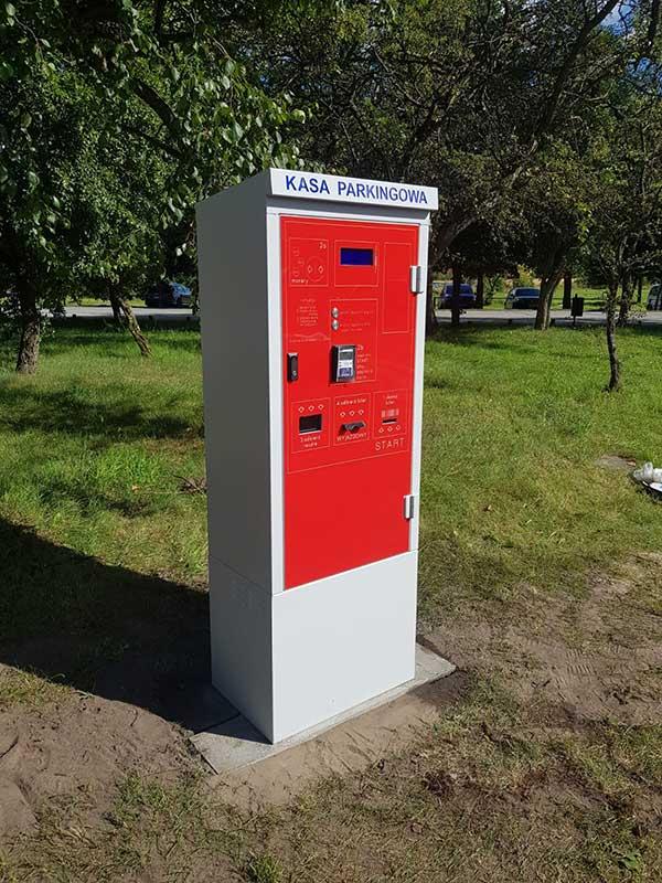 Kasa parkingowa LPS, realizacja Logbit Parking System. Miejscowość Karsin.