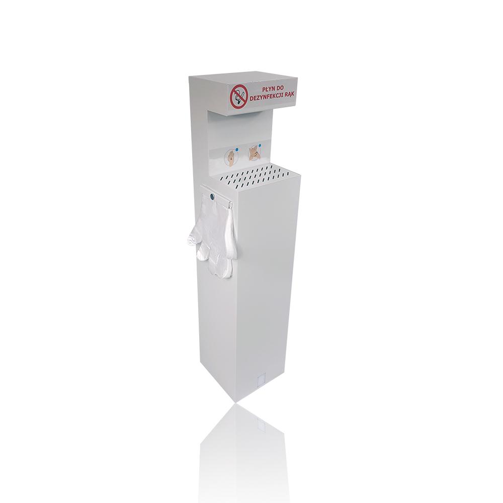 Stacja do dezynfekcji rąk, Logbit, elektryczna.